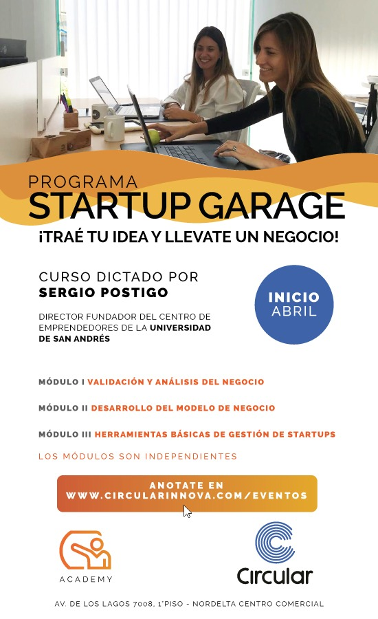 Curso para emprendedoras – Traé tu idea, llevate un negocio en 3 clases!