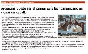 Primer clon de caballo argentino