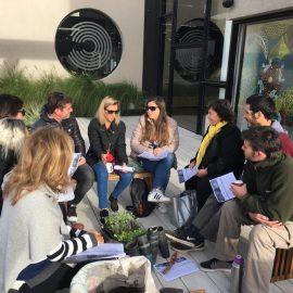 Coworking - Socializando en la terraza