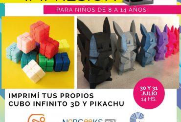 Taller de Impresión 3D – 31/07