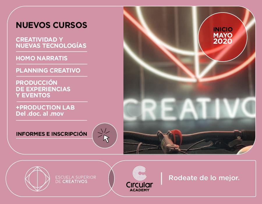 escuela de creativos cursos 2020 en circular cowork nordelta